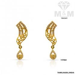 Vibrant Gold Casting  Earring