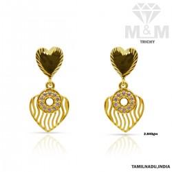 Joyful Gold Casting Stone Earring