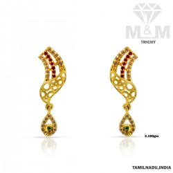Sparkling Gold Casting Earring