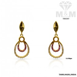 Luxurious Gold Casting Earring