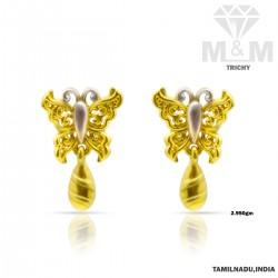 Subtle Gold Casting Earring