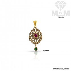 Tradition Gold Casting Stone Pendant