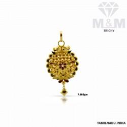 Sculpture Gold Fancy Pendant