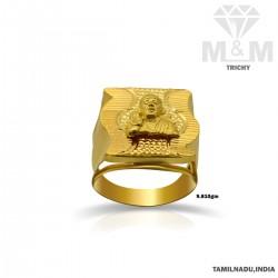 Grandeur Gold Sai Baba Ring