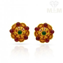 Perfection Gold Antique Stud