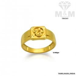 Amazing Gold Casting Om Ring