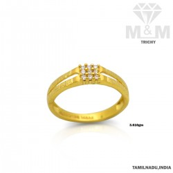 Cute Gold Casting Stone Ring