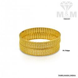 Beguiling Gold Fancy Bangle