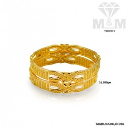 Captivating Gold Fancy Bangle