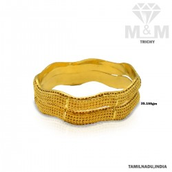Stunning Gold Fancy Bangle