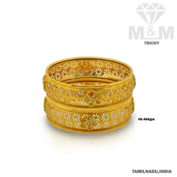 Pleasing Gold Fancy Bangle