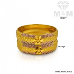 Picturesque Gold Fancy Bangle