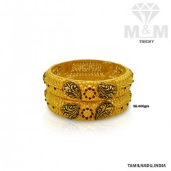 Preeminent Gold Antique Bangle