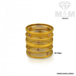Delectable Gold Fancy Bangle