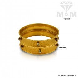 Unrivaled Gold Fancy Bangle