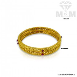 Unparalleled Gold Fancy Bangle