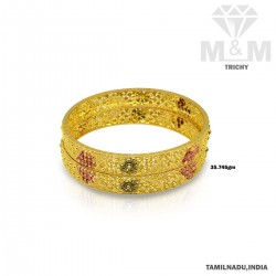 Dazzling Gold Fancy Bangle