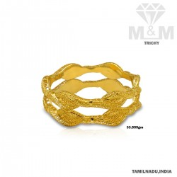 Vivacious Gold Fancy Bangle