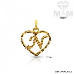 Renowned Gold Casting Letter Pendant