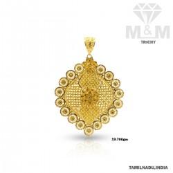 Flamboyant Gold Fancy Pendant