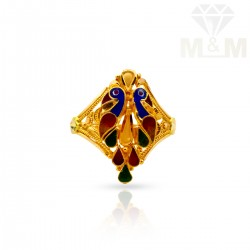 Dreamy Gold Fancy Peacock Ring