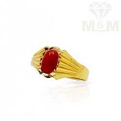 Renowned Gold Fancy Coral Ring
