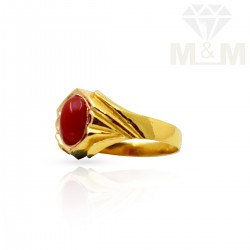 Notable Gold Fancy Coral Ring