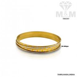 Popular Gold Fancy Rhodium Bangle