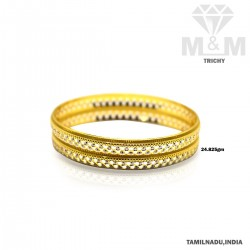 Celebrity Gold Fancy Rhodium Bangle