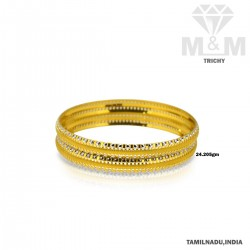 Fame Gold Fancy Rhodium Bangle