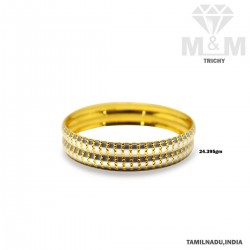 Memorable Gold Fancy Rhodium Bangle