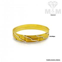 Treasured Gold Fancy Rhodium Bangle