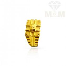 Flamboyant Gold Casting Ring