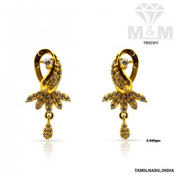 Famous Gold Casting Stone Earring