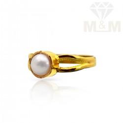 Venerable Gold Fancy Pearl Ring