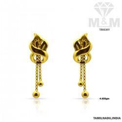 Fantastical Gold Casting Earring