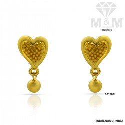 Gorgeous Gold Casting Earring