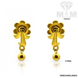 Haunting Gold Casting Earring