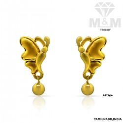 Pleasing Gold Casting Earring