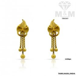 Scenic Gold Casting Earring