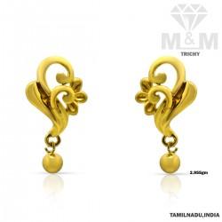 Seductive Gold Casting Earring