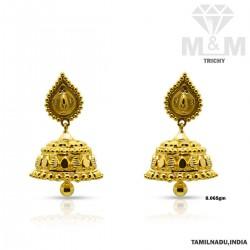 Vivacious Gold Fancy Earring