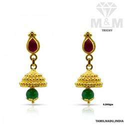 Decent Gold Fancy Stone Earring