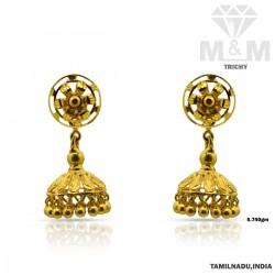 Polite Gold Fancy Earring