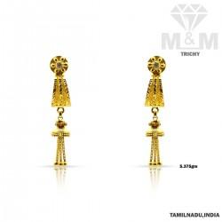 Ubiquitous Gold Fancy Earring