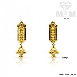 Brilliantly Gold Fancy Earring