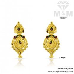 Majestic Gold Fancy Earring