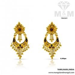 Awesome Gold Fancy Earring