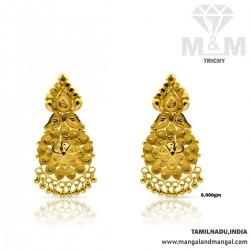 Sumptous Gold Fancy Earring