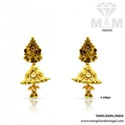 Joyful Gold Fancy Earring
